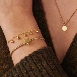 Violet Hamden Luna 925 Sterling Silver Gold colored Schmuck Geschenkset