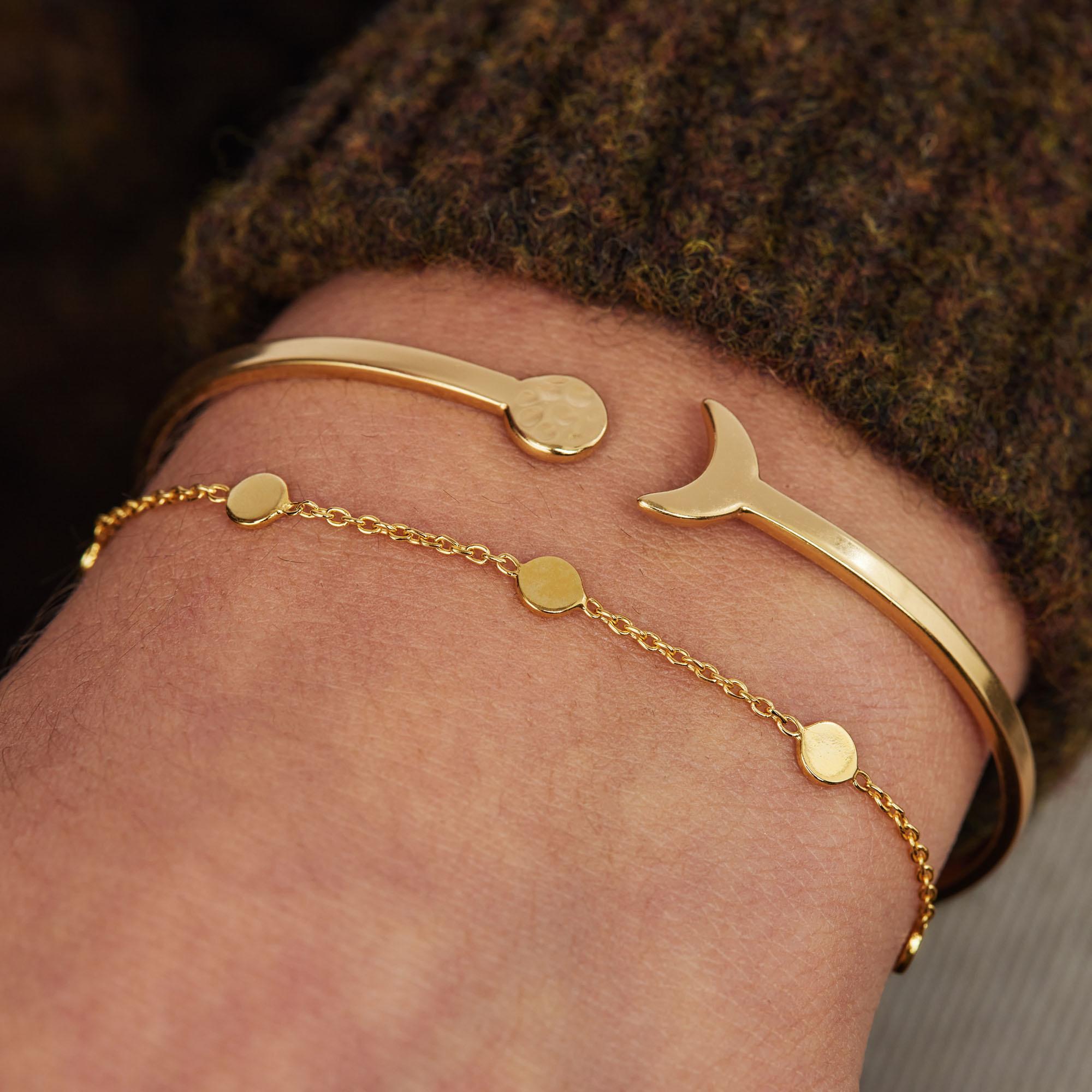 Violet Hamden Luna 925 sterling sølv guldfarvet armbånd