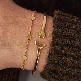 Violet Hamden Luna 925 Sterling Silber Goldarmband