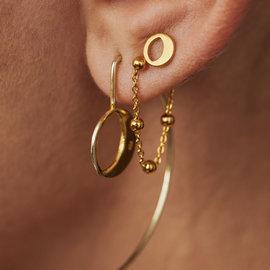 Violet Hamden Luna 925 sterling sølv guldfarvede øreringe