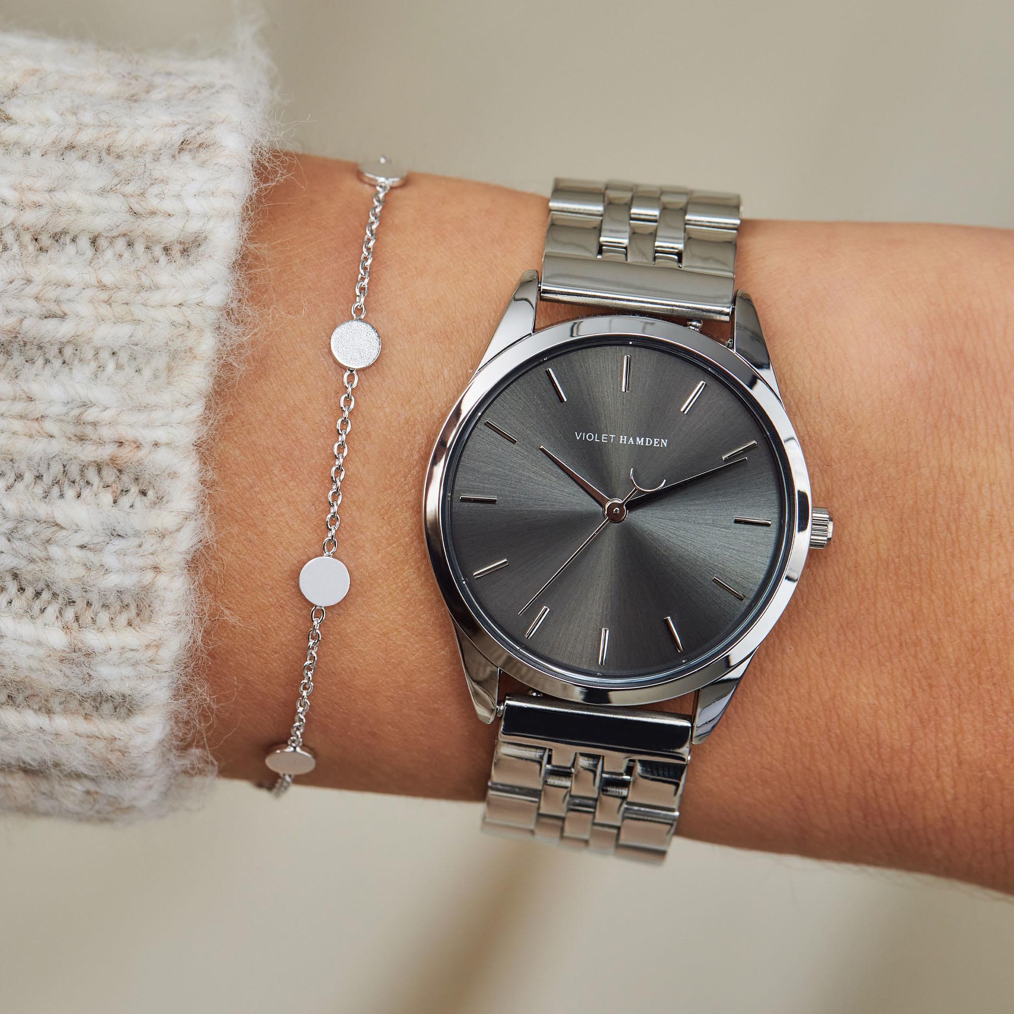 Violet Hamden Luna 925 Sterling Silber Armband mit Münze