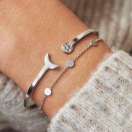 Violet Hamden Bracciale Luna in argento sterling 925