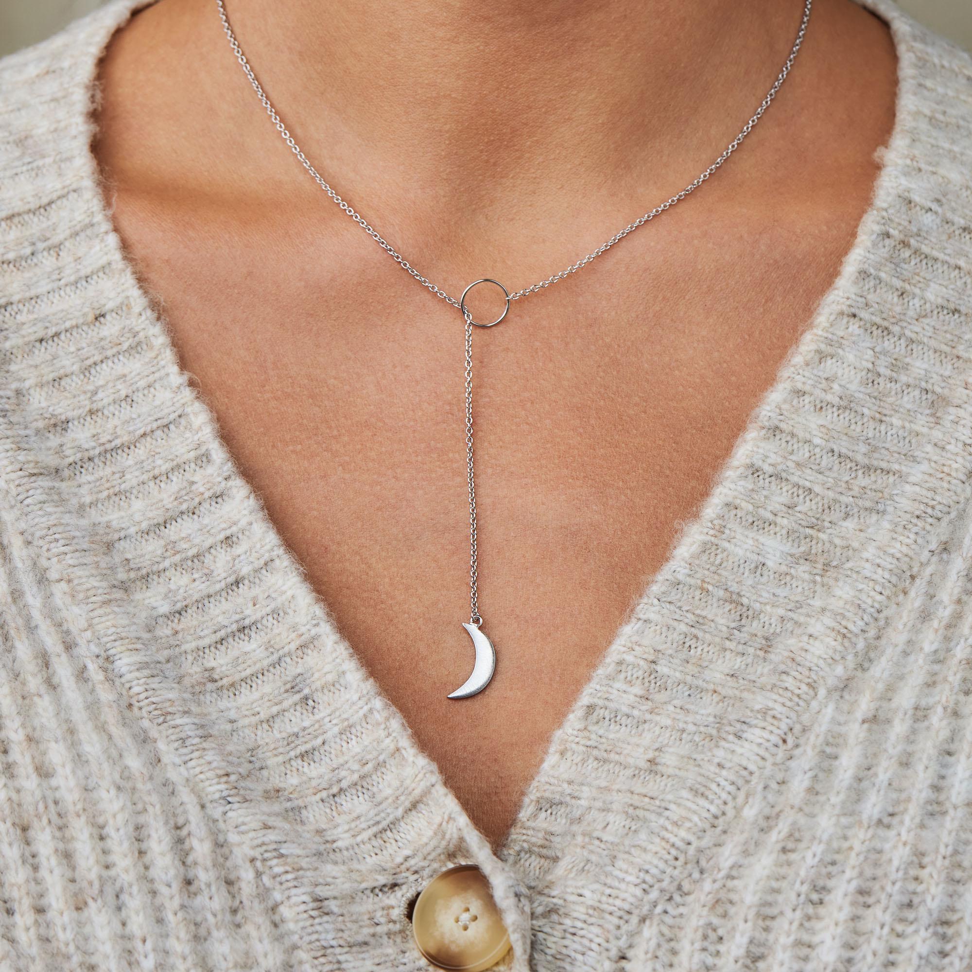 Violet Hamden Luna 925 Sterling Silber Halskette