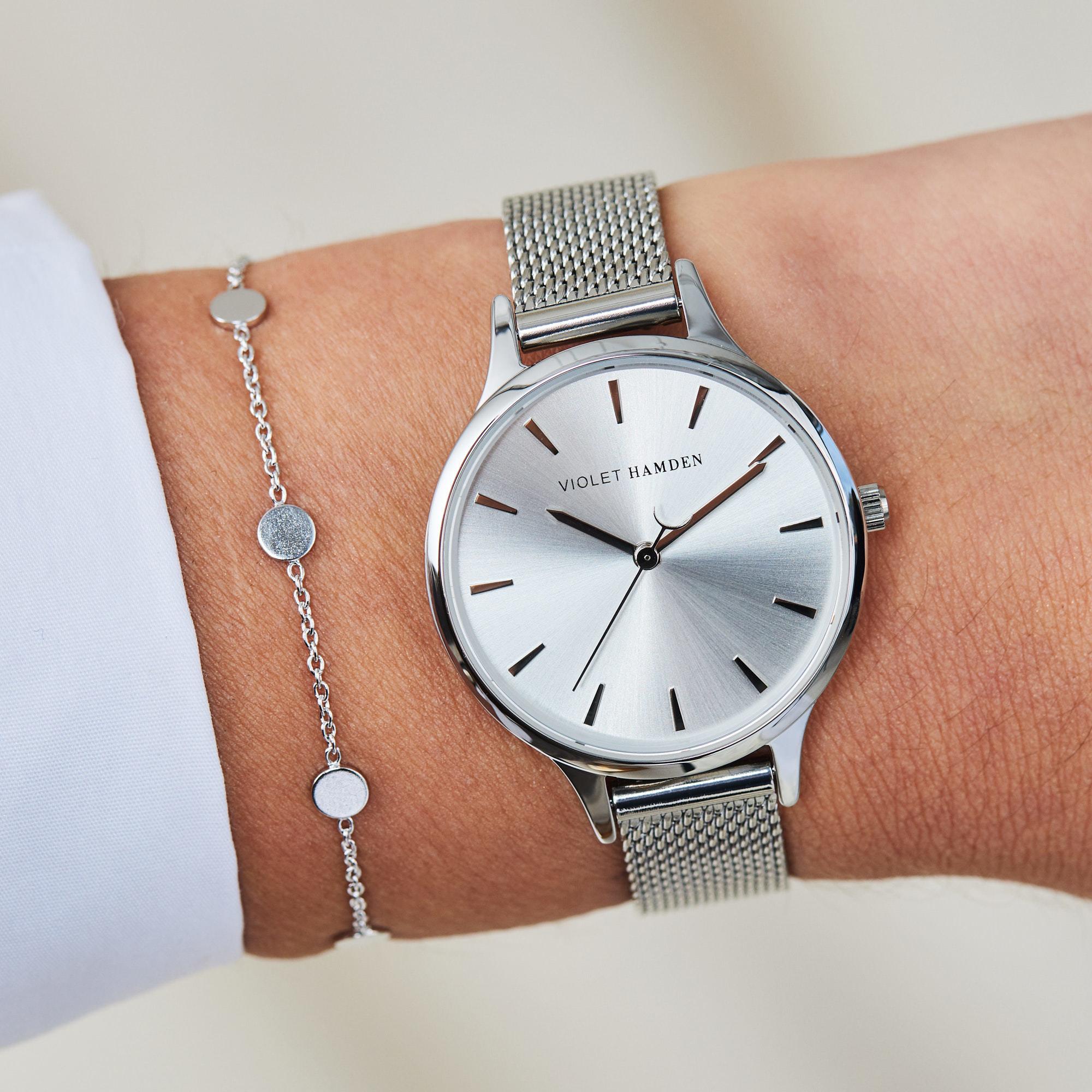 Violet Hamden Luna 925 sterling zilveren armband met muntjes