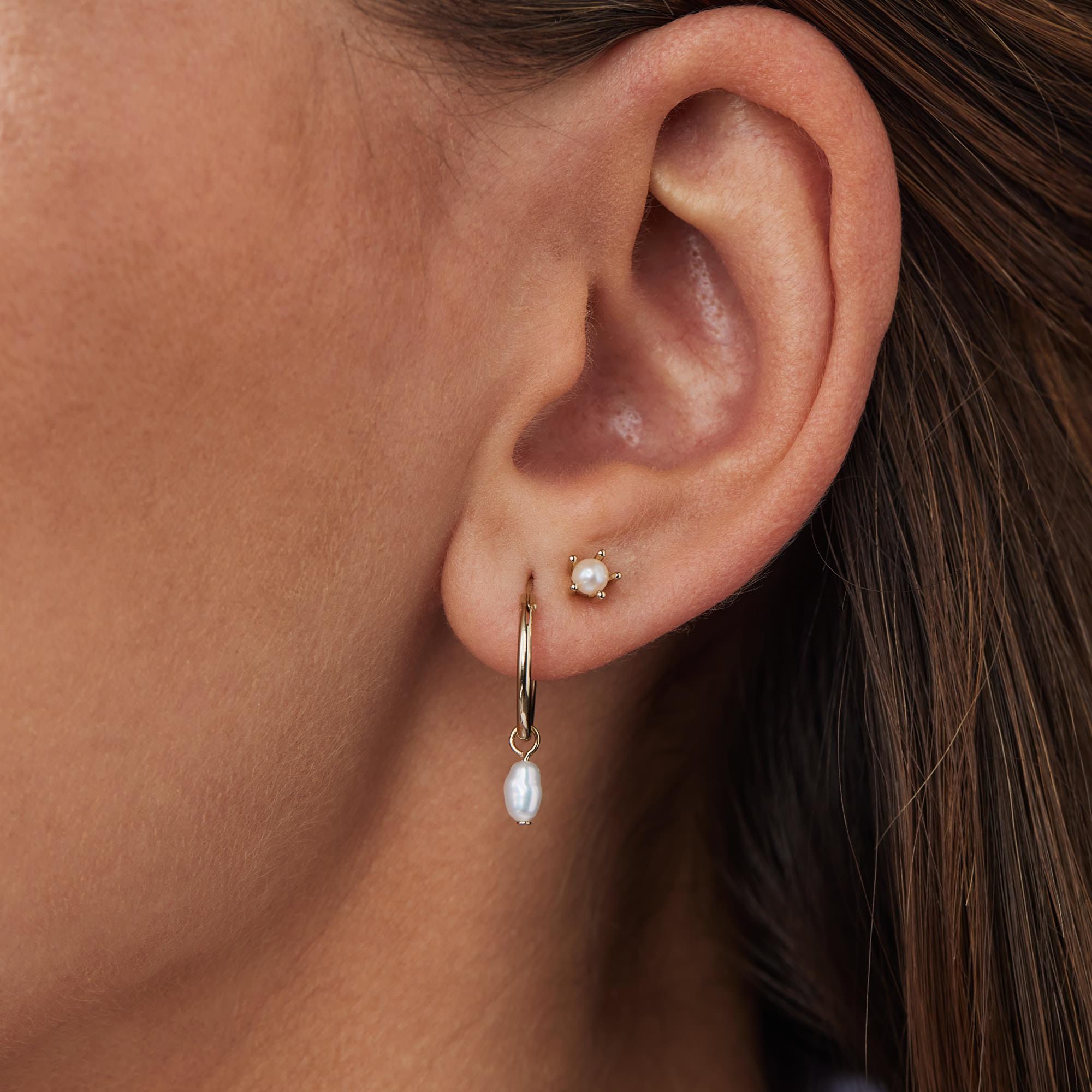 Violet Hamden Boucles d'oreilles en argent sterling 925 Luminous Lake avec perles d'eau douce