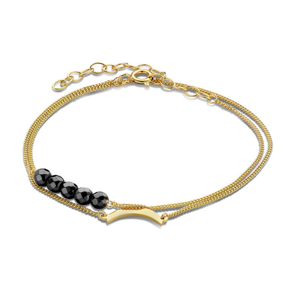 Violet Hamden Luna 925 sterling silver gold colored bracelet