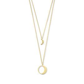 Violet Hamden Luna 925 sterling zilver goudkleurige ketting met maantjes