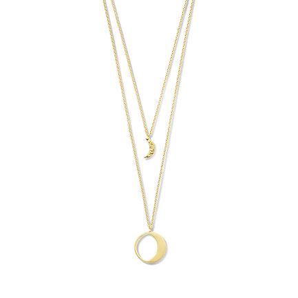 Violet Hamden Luna 925 sterling zilver goudkleurige ketting