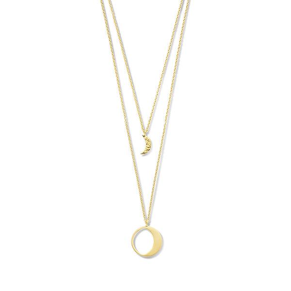 Violet Hamden Luna collana color oro in argento sterling 925