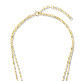 Violet Hamden Luna 925 Sterling Silber goldfarbenes Kette mit Monde