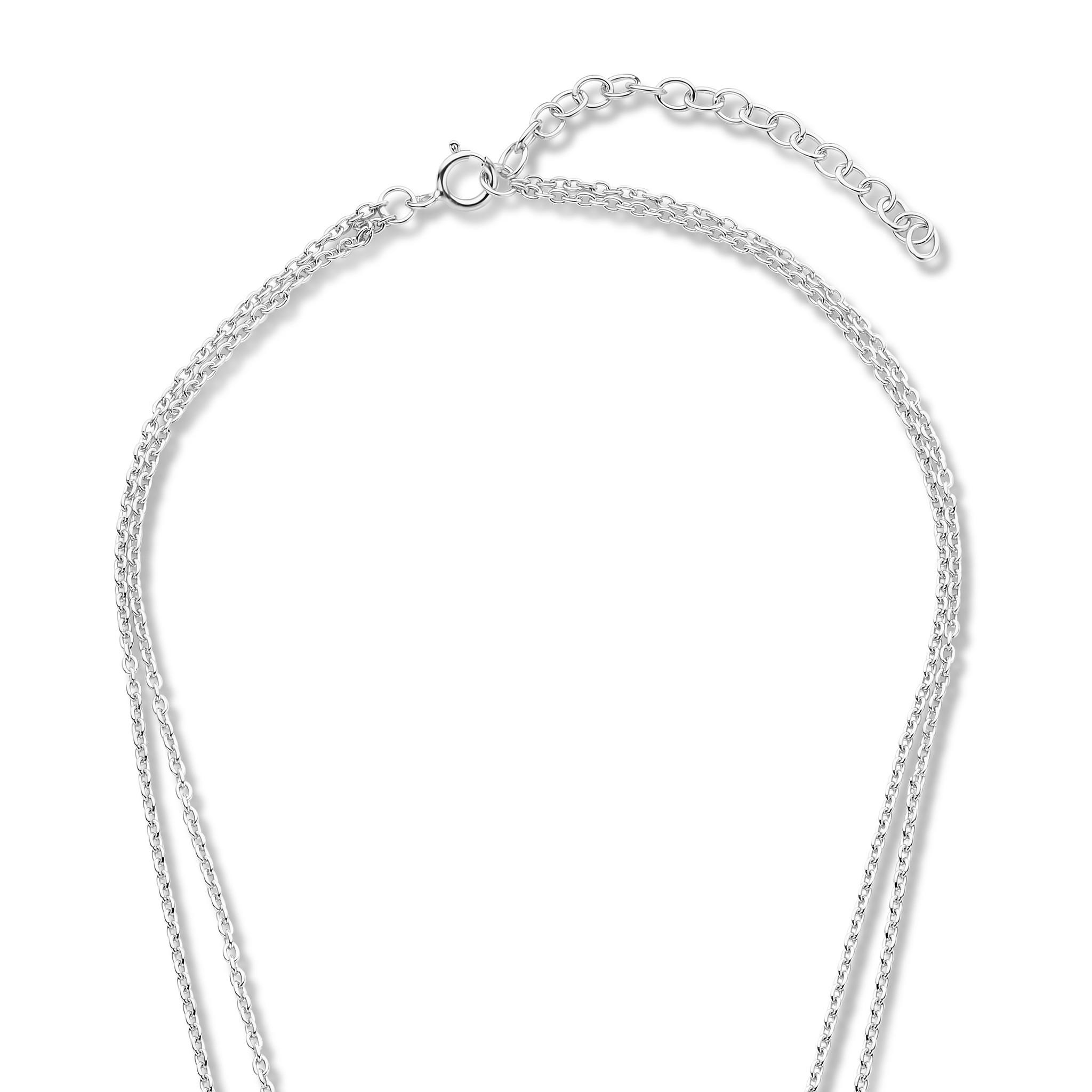 Violet Hamden Luna 925 sterling silver necklace with moons