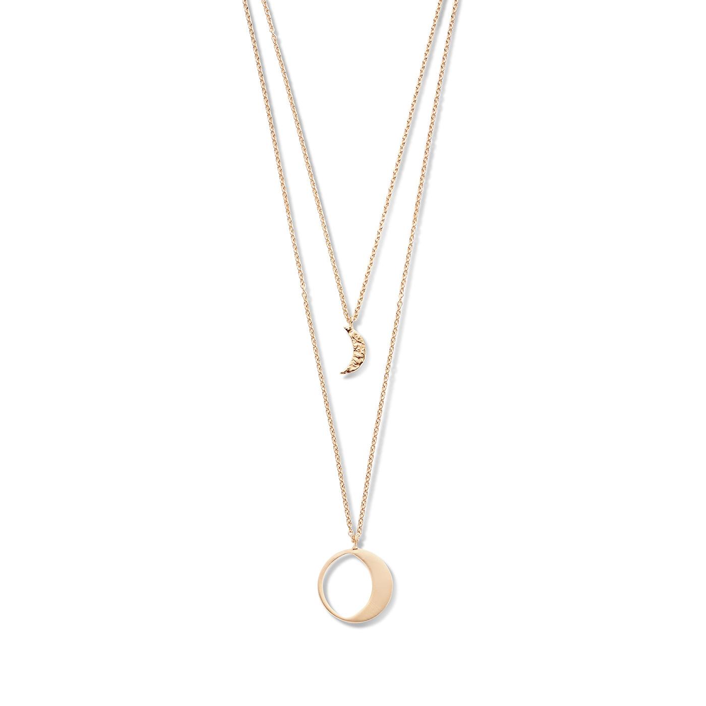 Violet Hamden Luna 925 Sterling Silber roségoldfarbenes Kette mit Monde