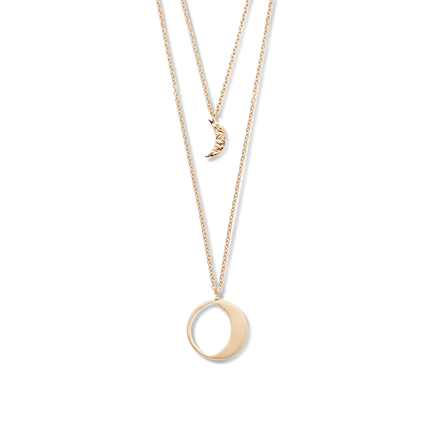 Violet Hamden Luna collana color oro rosa in argento sterling 925