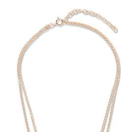 Violet Hamden Luna 925 sterling zilver rosé goudkleurige ketting met maantjes
