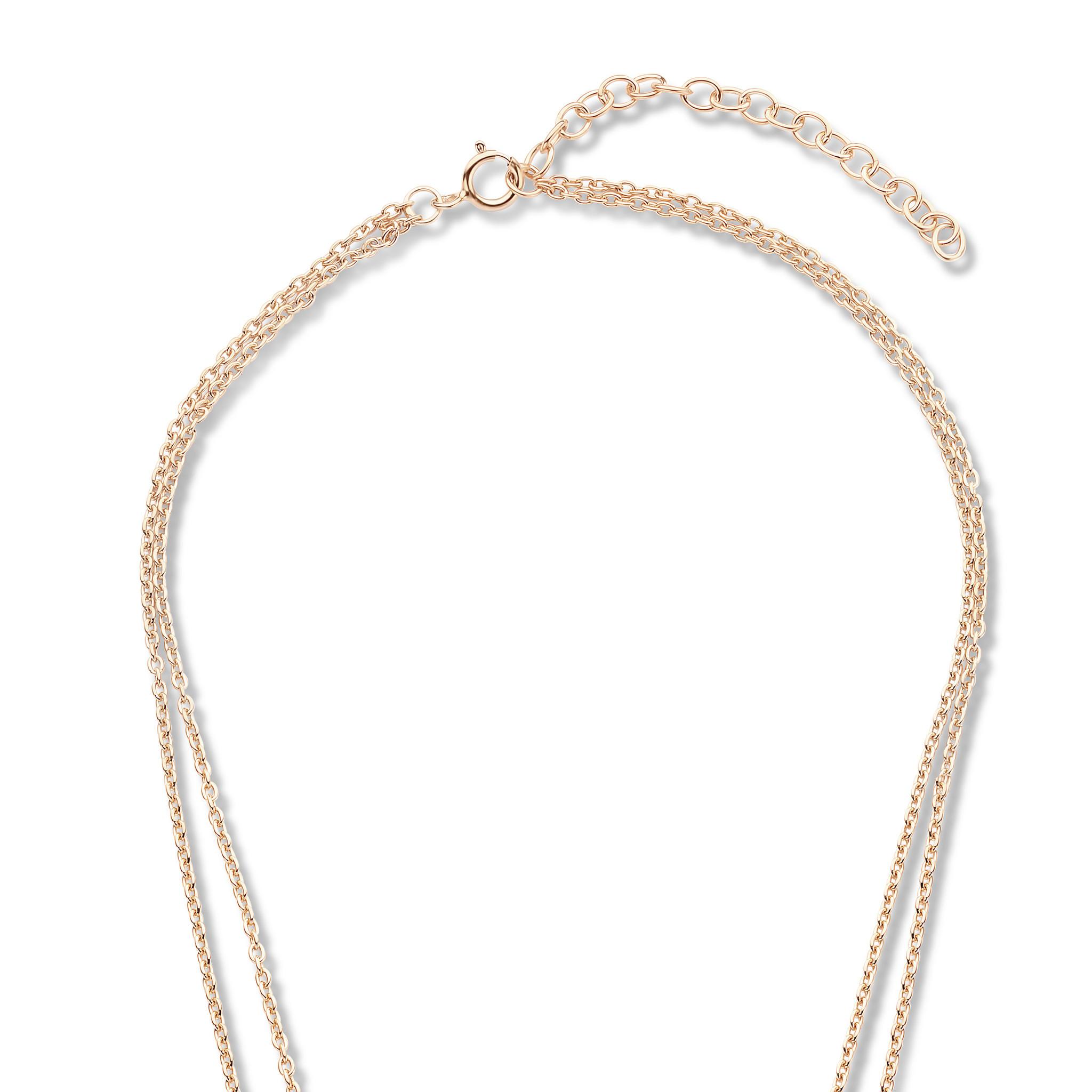 Violet Hamden Luna 925 sterling sølv rosa guldfarvet halskæde