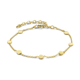 Violet Hamden Luna 925 sterling silver gold colored bracelet with coins