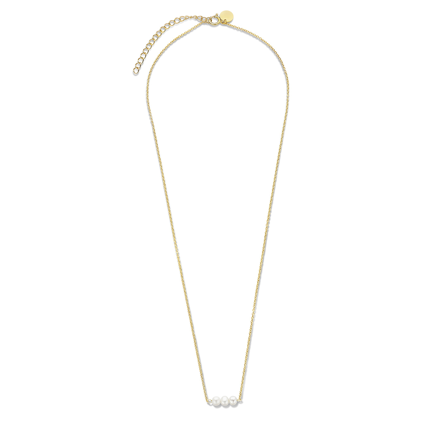 Violet Hamden Luminous Lake 925 sterling silver gold colored necklace with freshwater pearls
