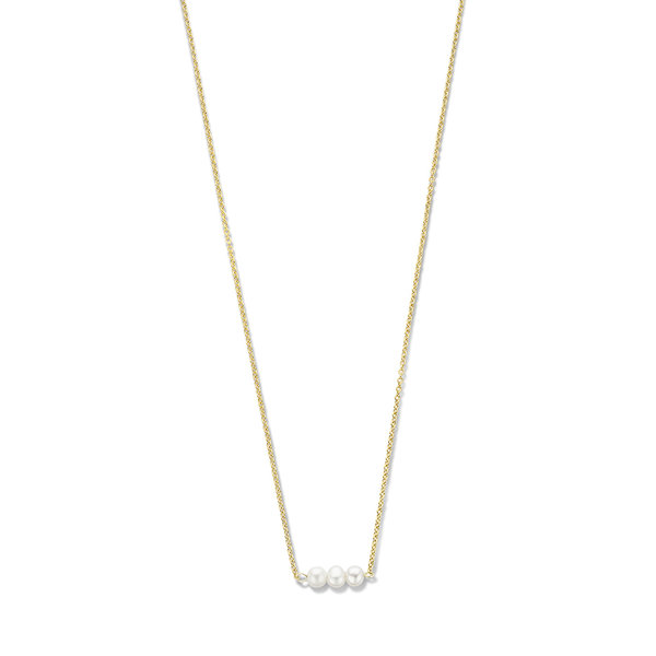 Violet Hamden Collana in argento sterling 925 color oro Luminous Lake con perle d'acqua dolce