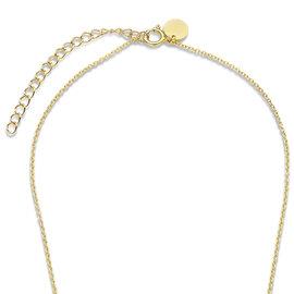 Violet Hamden Luminous Lake Perlenkette aus goldfarbenem 925 Sterlingsilber mit Süßwasserperlen