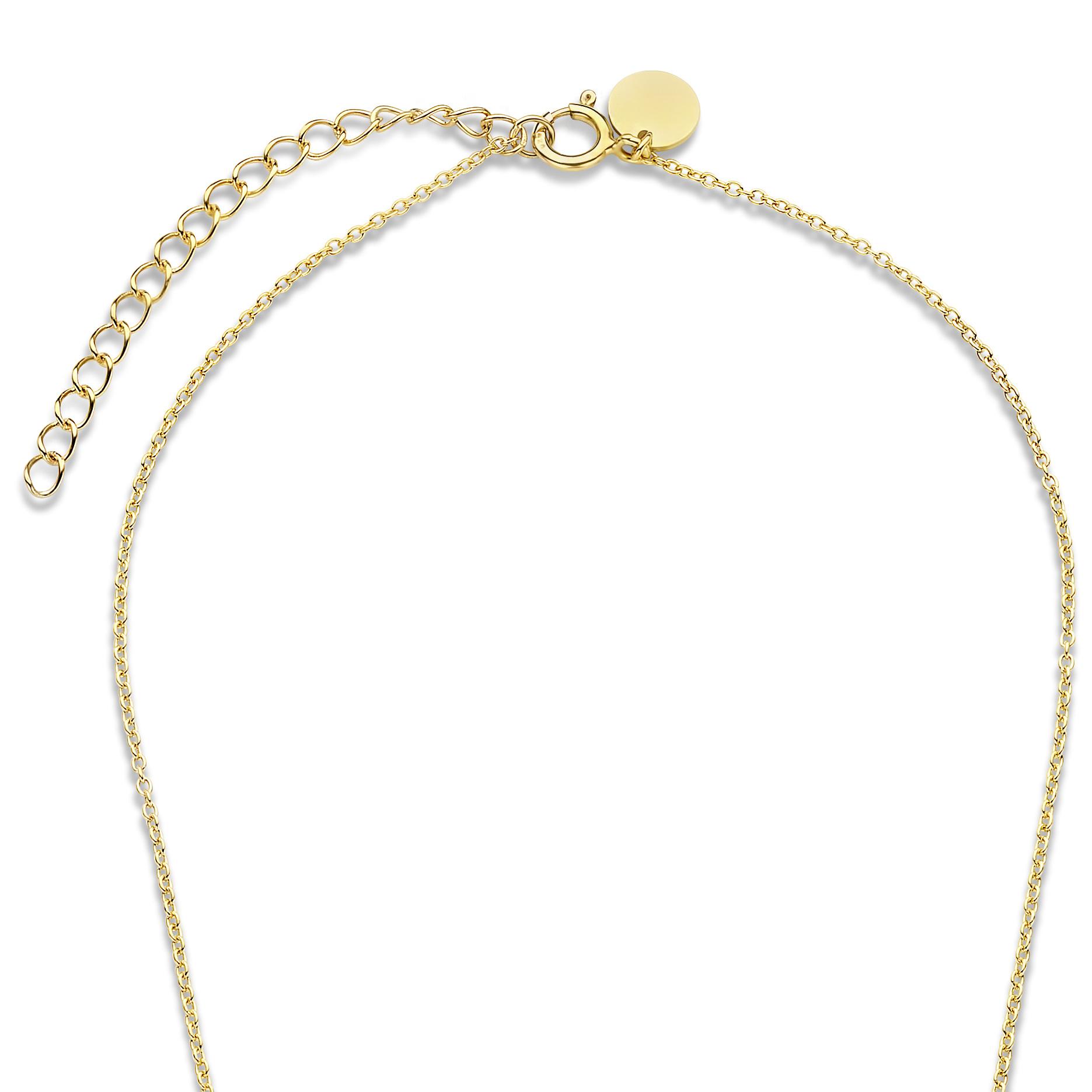 Violet Hamden Luminous Lake 925 sterlingsølv guldfarvet halskæde med ferskvandsperler