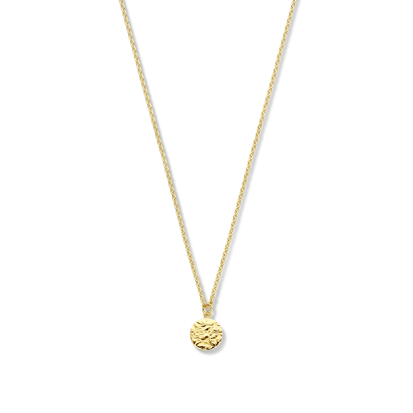 Violet Hamden Luna 925 sterling zilver goudkleurige ketting met muntje