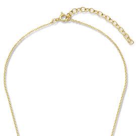 Violet Hamden Luna 925 Sterling Silver Gold-colored Full Moon Hammered Necklace