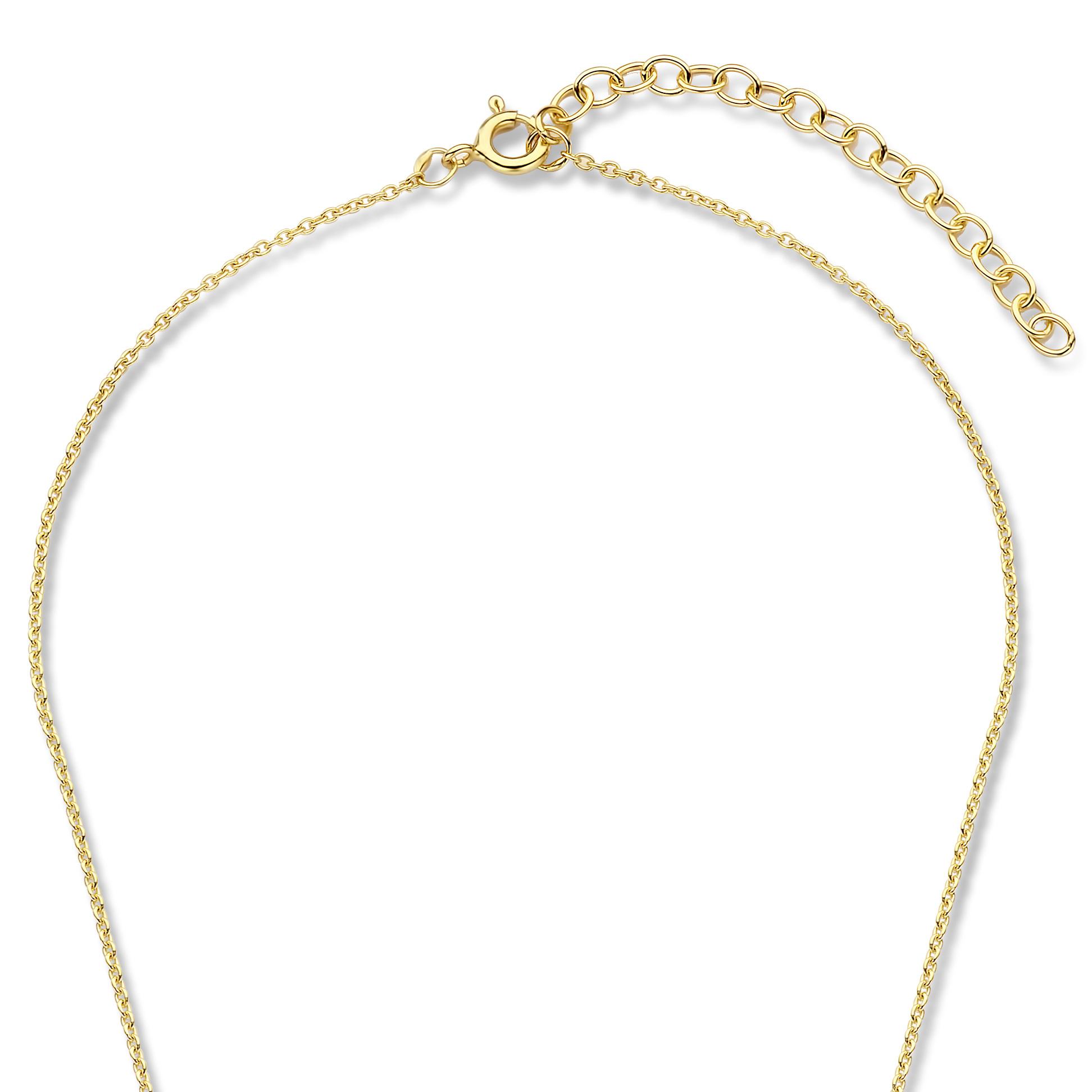 Violet Hamden Luna 925 sterling silver gold colored necklace with coin