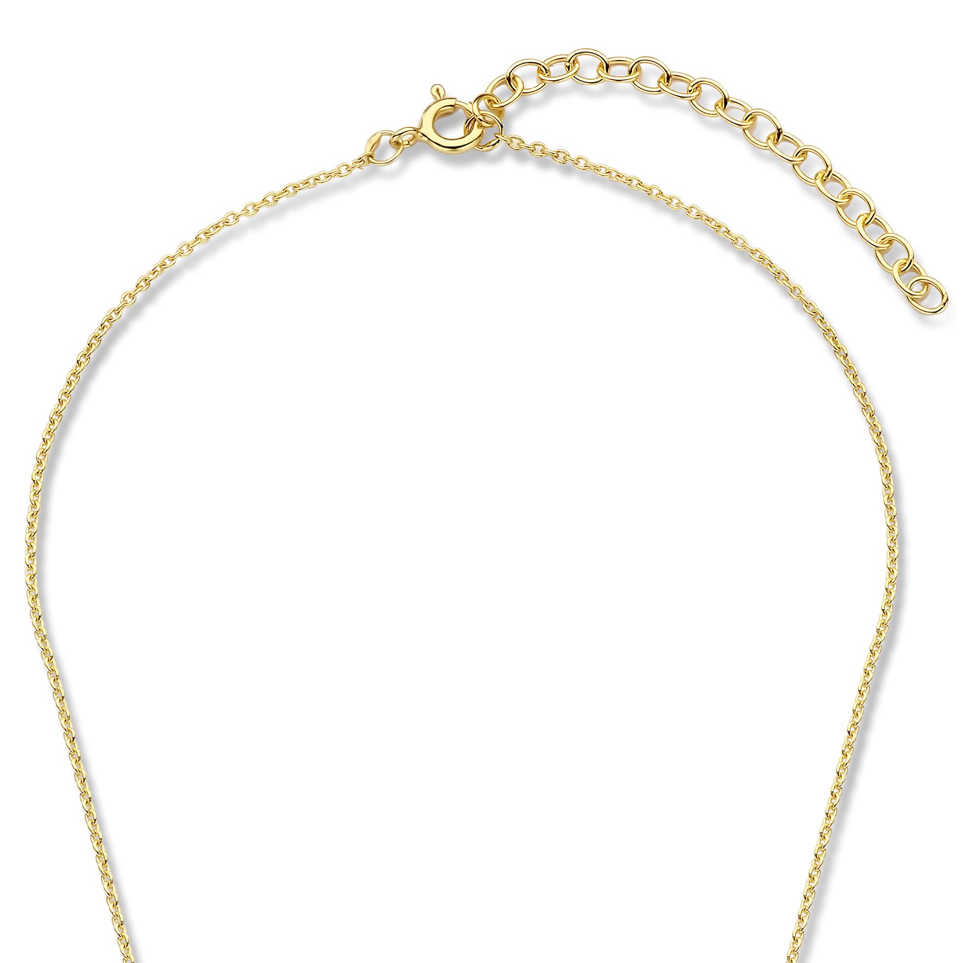 Violet Hamden Luna 925 sterling sølv guldfarvet fuldmåne hamret halskæde