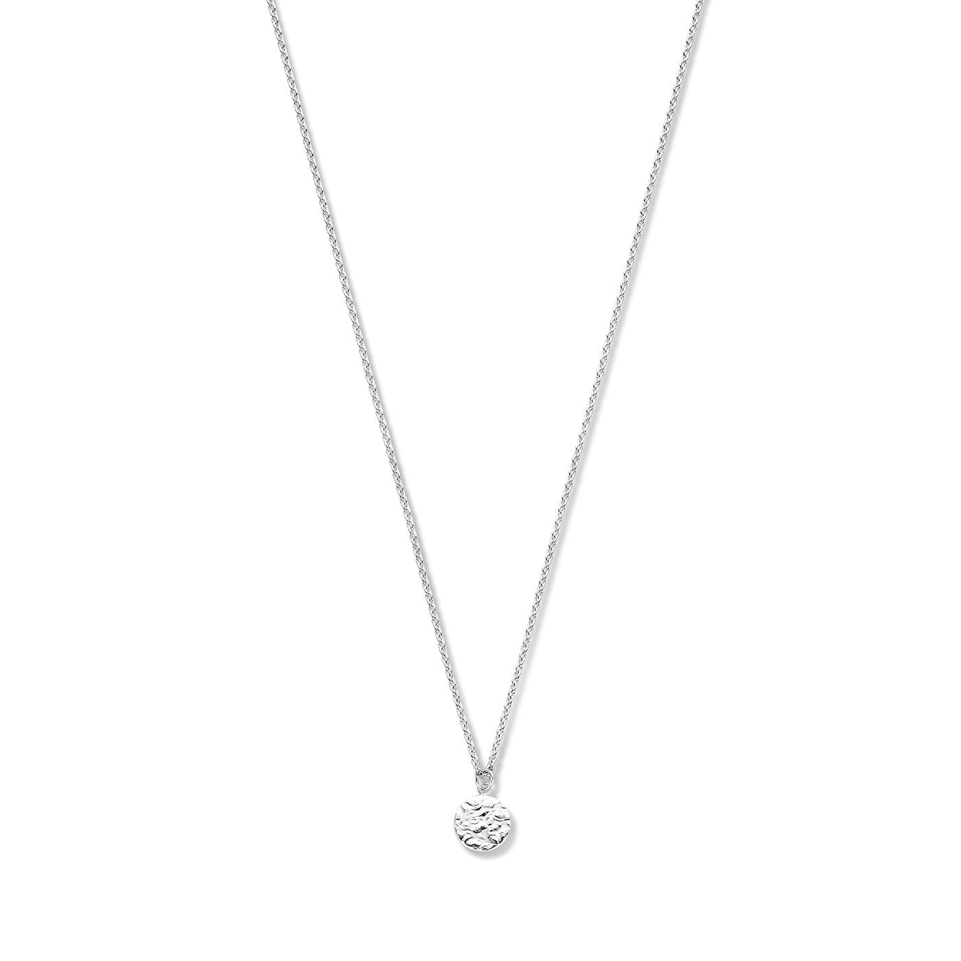 Violet Hamden Luna 925 sterling sølv fuldmåne hamret halskæde