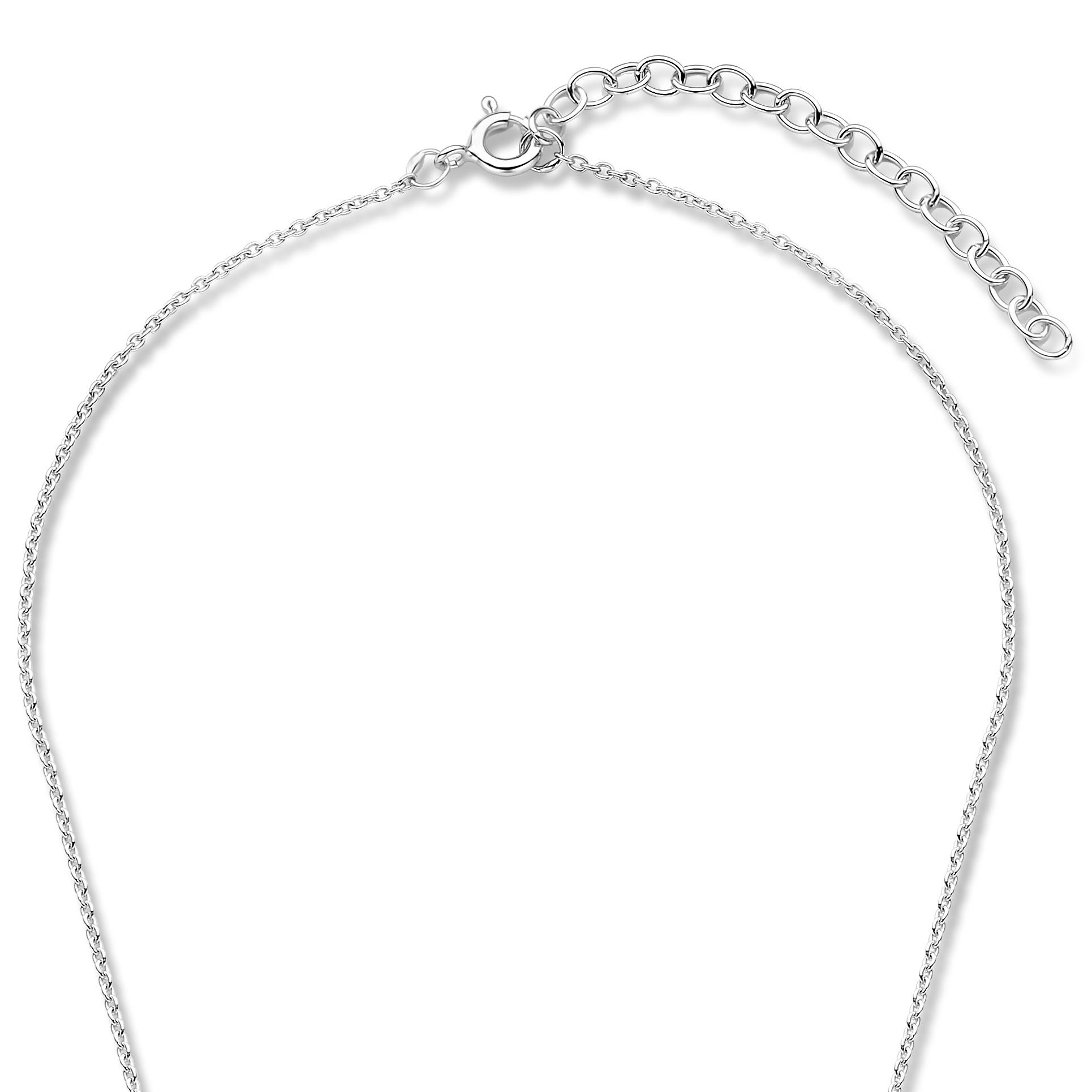 Violet Hamden Luna 925 Sterling Silber Vollmond gehämmerte Halskette