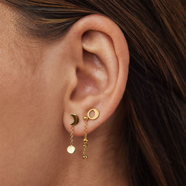Violet Hamden Luna 925 Sterling Silver Gold-colored Cosmos Ear Studs