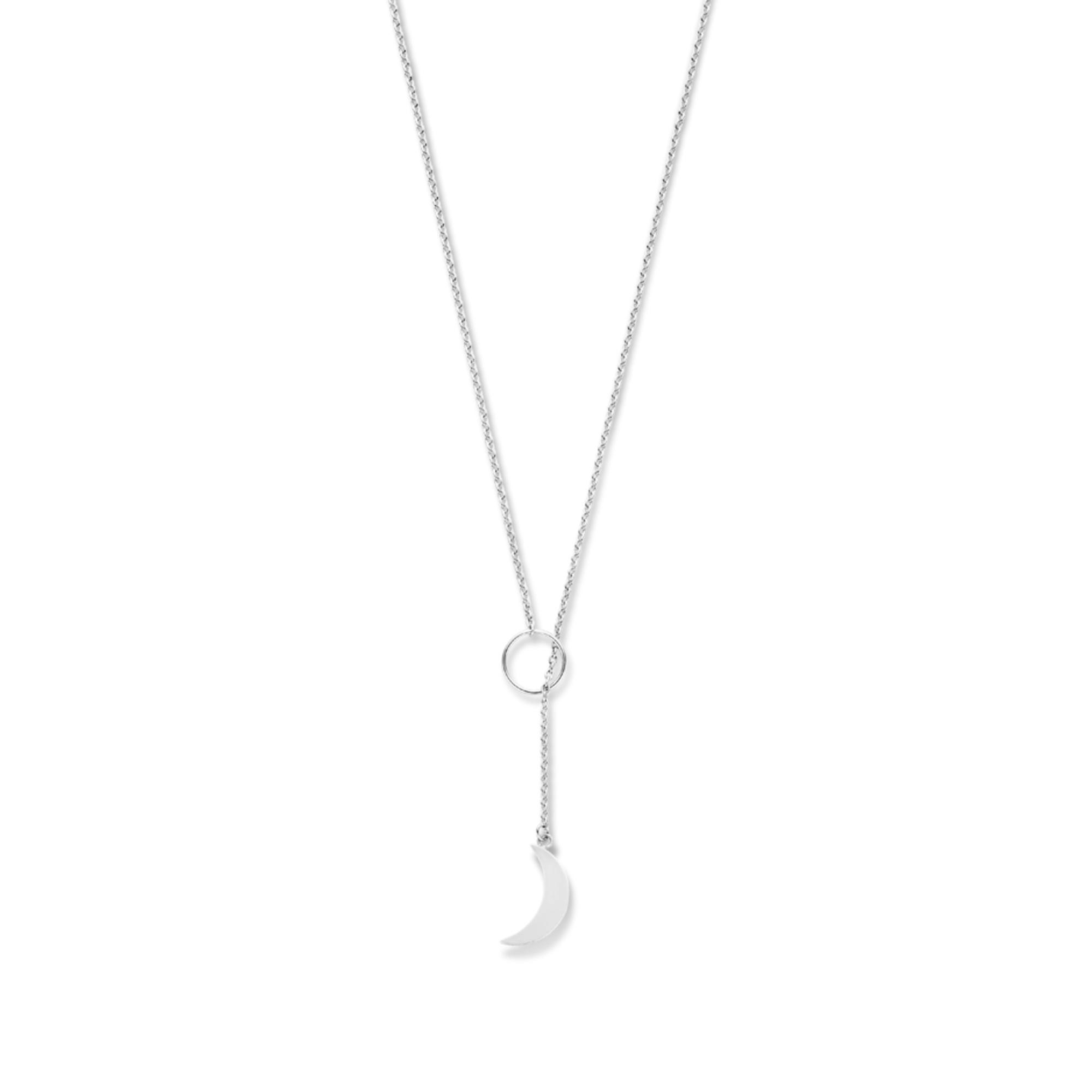 Violet Hamden Luna 925 sterling silver necklace with moon