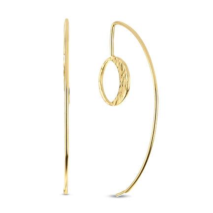 Violet Hamden Luna 925 sterling sølv guldfarvet øreringe