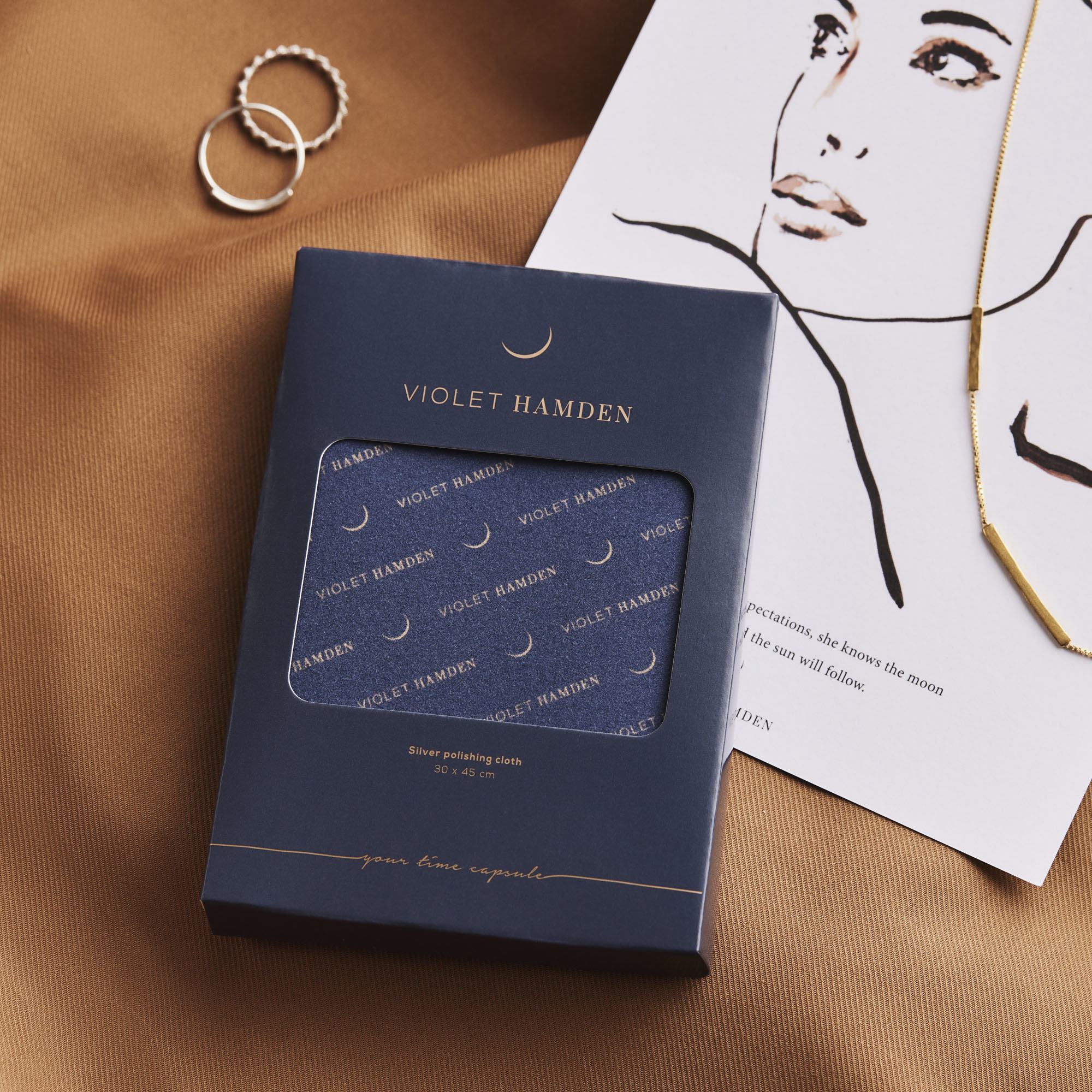 Violet Hamden Poetsdoek voor zilver sieraden