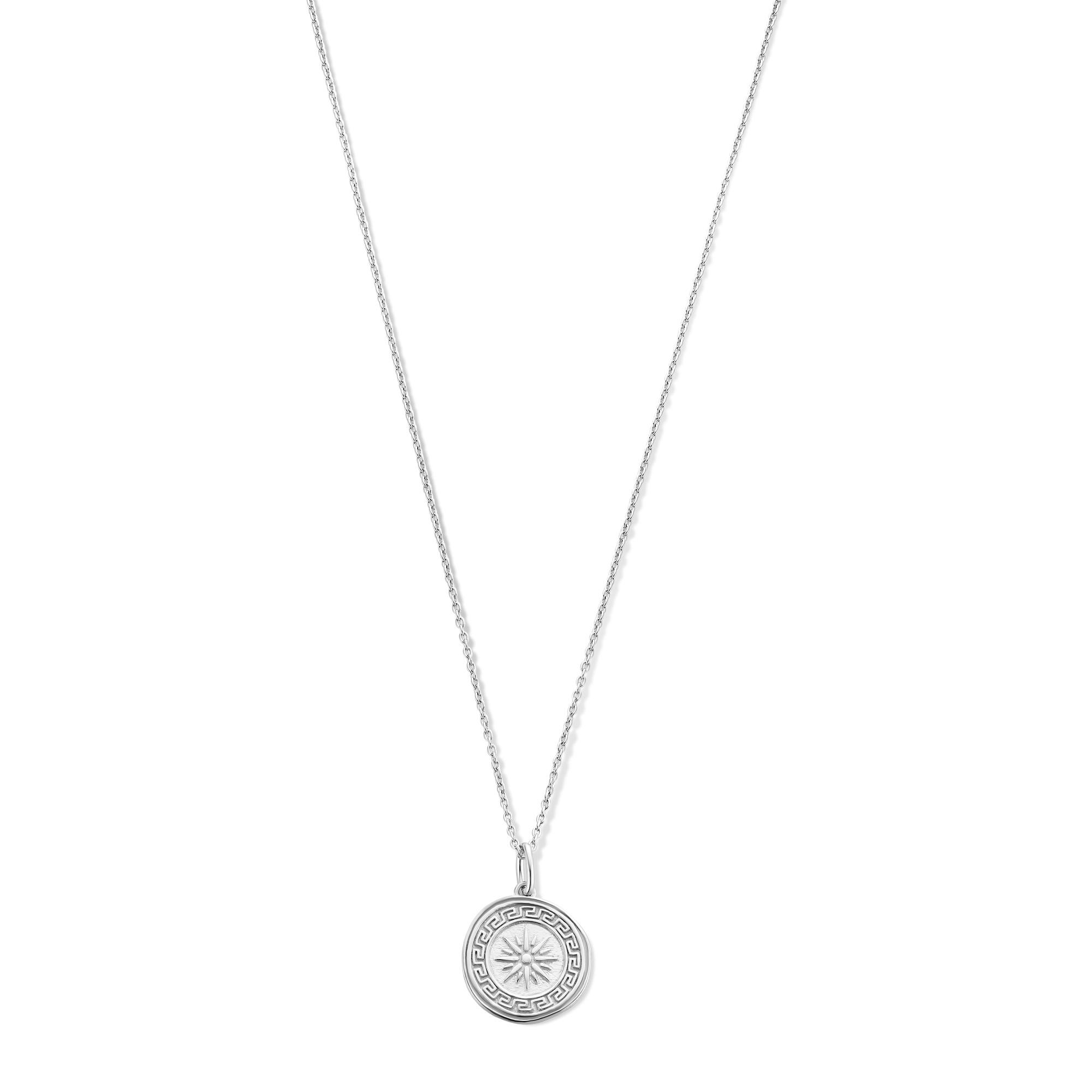 Violet Hamden Athens 925 Sterling Silber Kette mit Münze