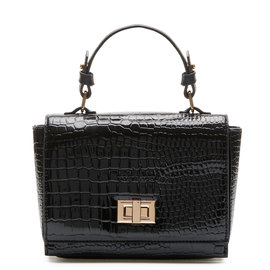 Violet Hamden Evening Star Crossbody Croco Noire