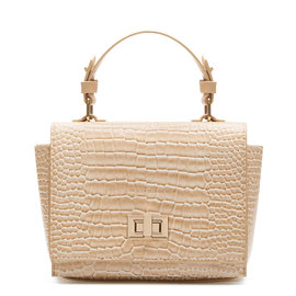 Violet Hamden Evening Star Crossbody Croco beige