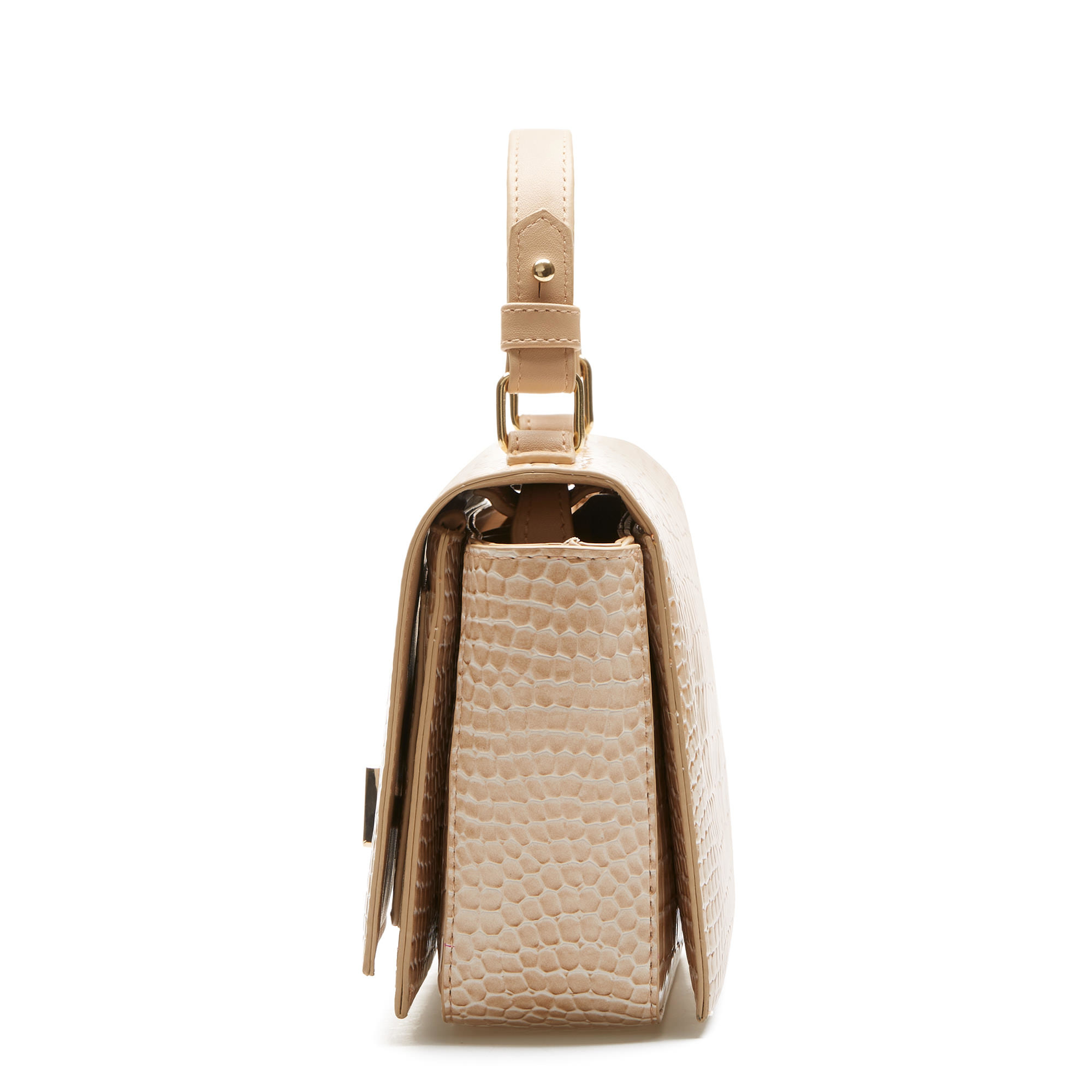 Violet Hamden Evening Star croco beige crossbody