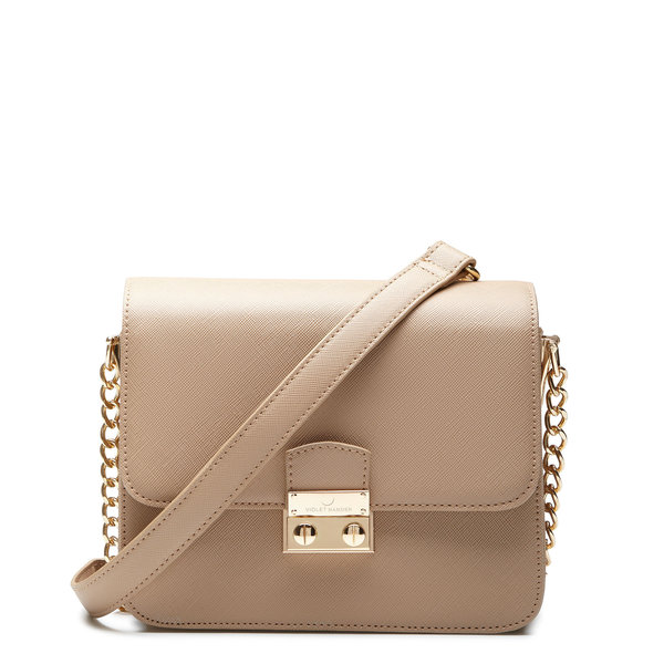Violet Hamden Evening Star beige crossbody taske