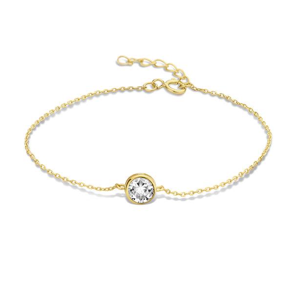 Violet Hamden Venus 925 sterling zilver goudkleurige armband met geboortesteen