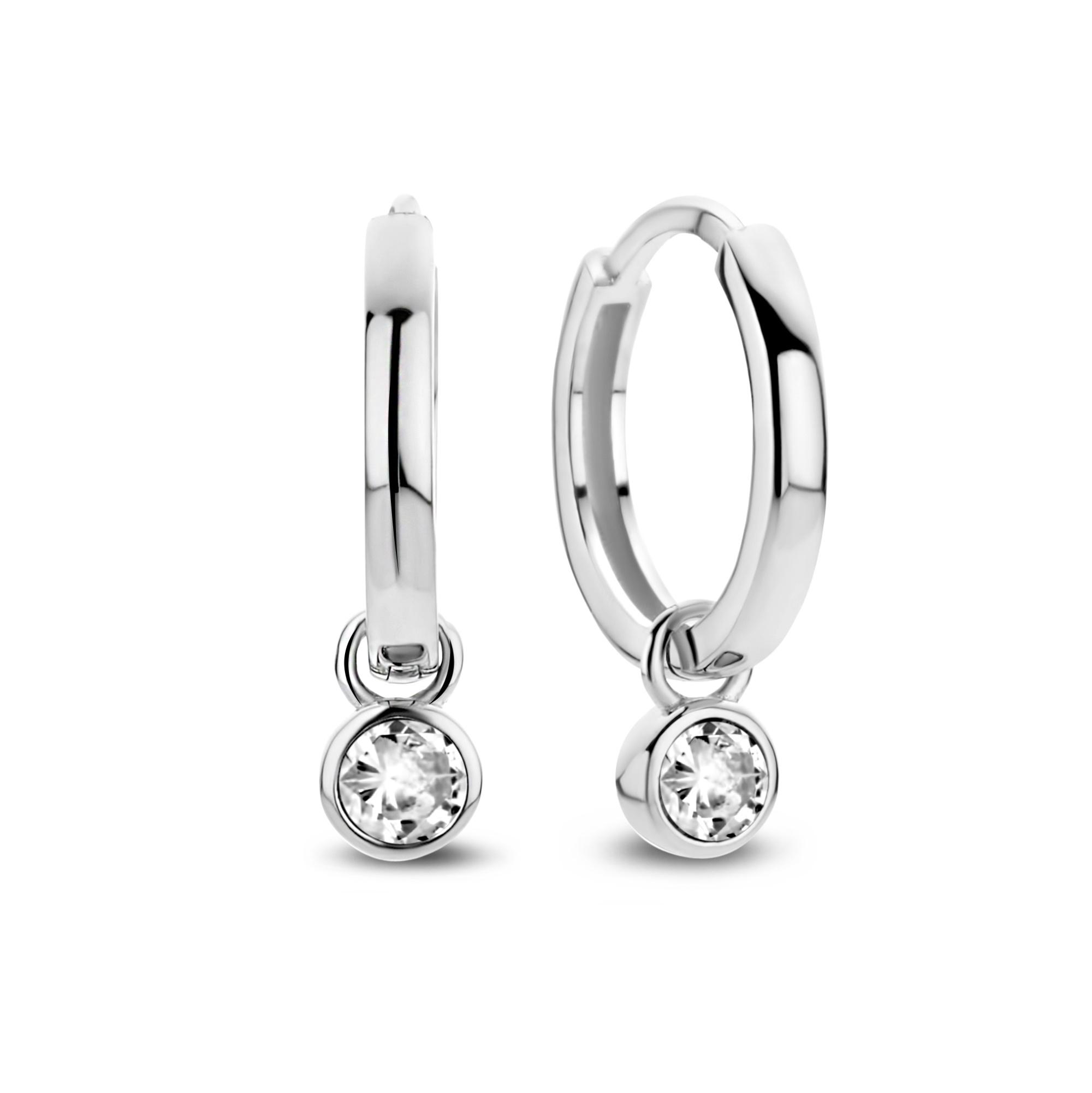 Violet Hamden Venus 925 sterling silver hoop earrings with birthstone