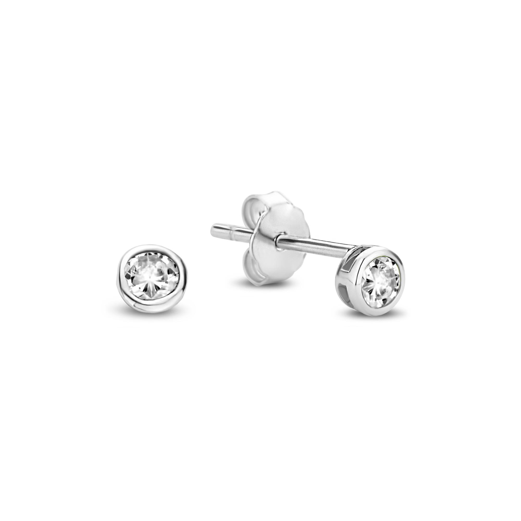 Violet Hamden Venus clous d'oreilles en argent sterling 925 avec pierre de naissance