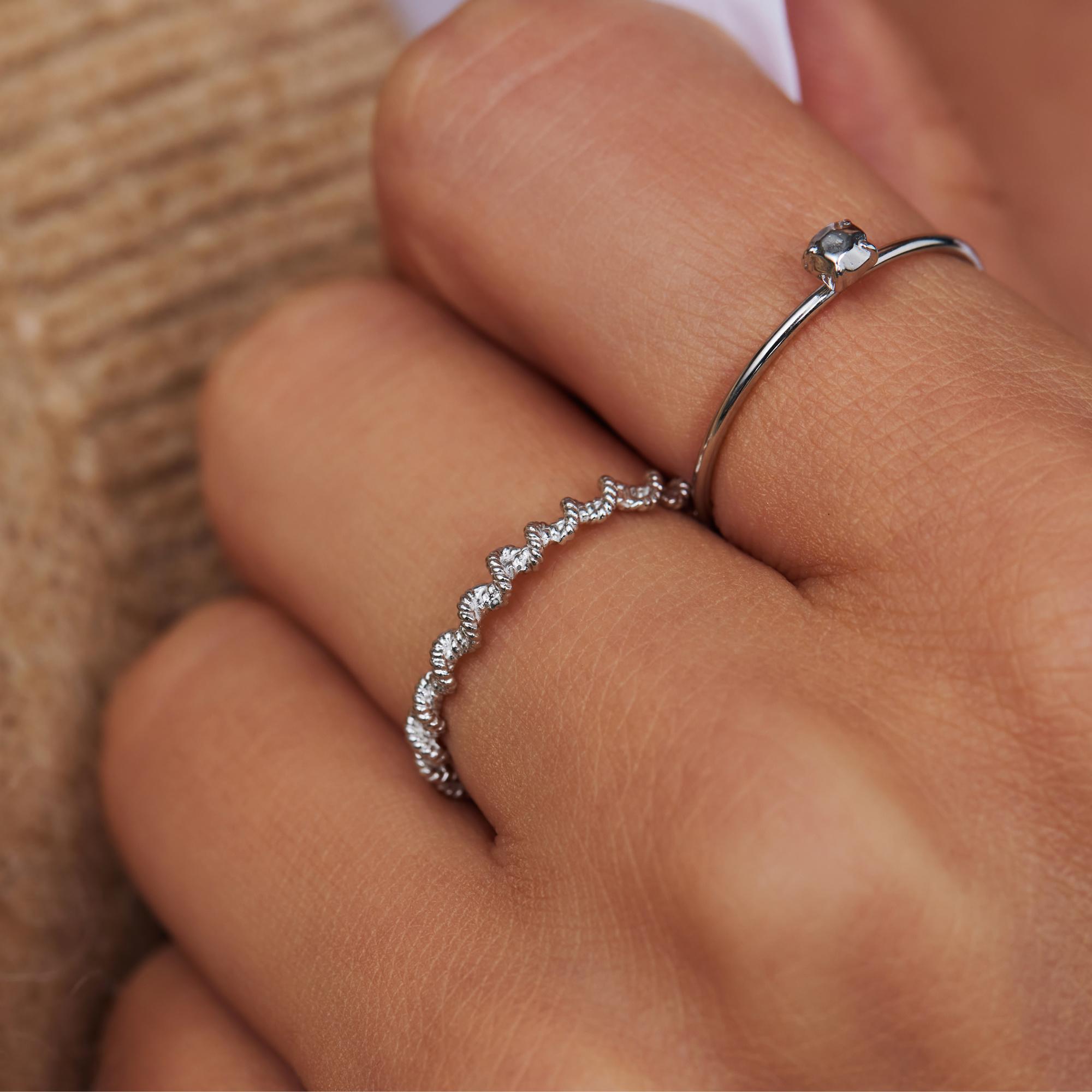 Violet Hamden Sisterhood Lunar 925 sterling silver ring twisted