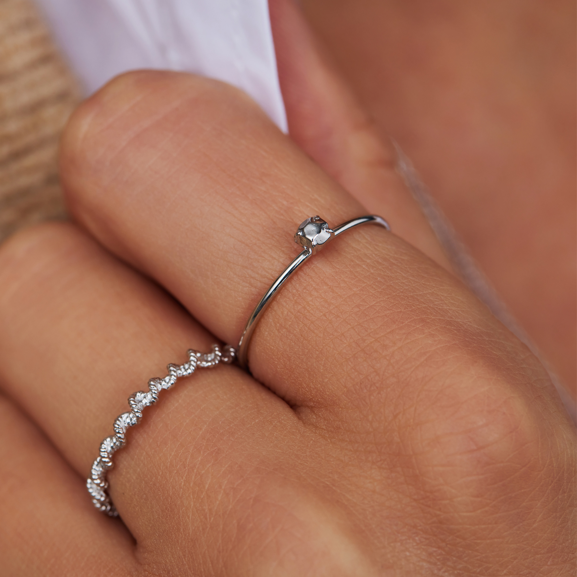 Violet Hamden Sisterhood Stone 925 sterling sølv ring