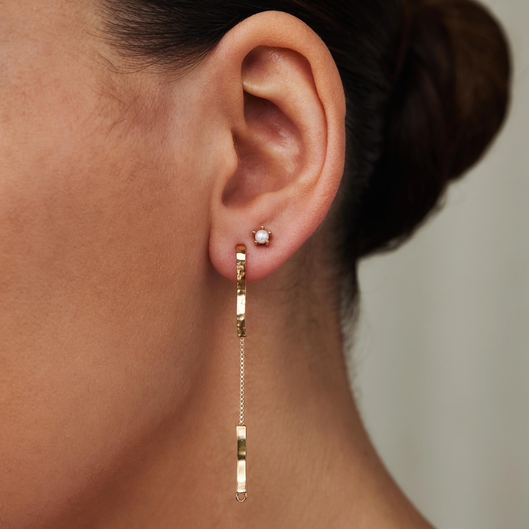 Violet Hamden Sisterhood Moonscape pendentifs d'oreille couleur or en argent sterling 925