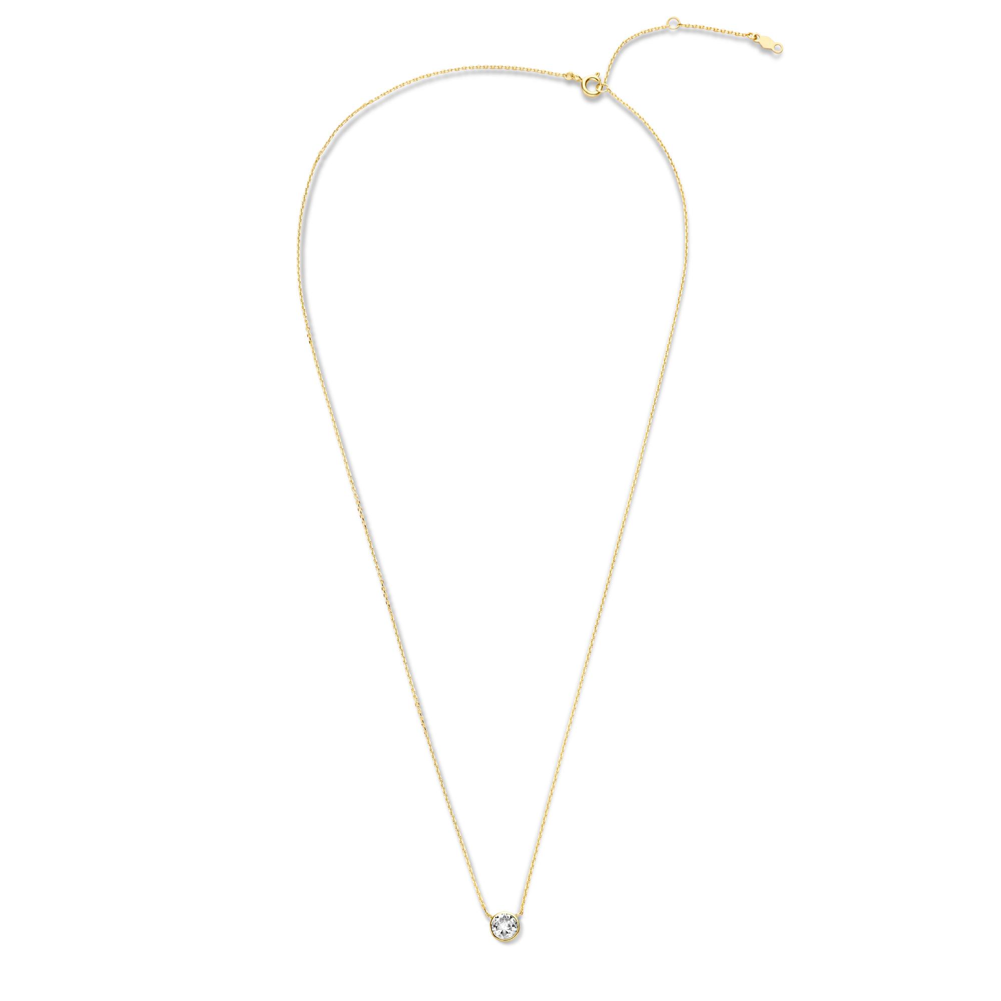 Violet Hamden Venus collana color oro in argento sterling 925 con birthstone