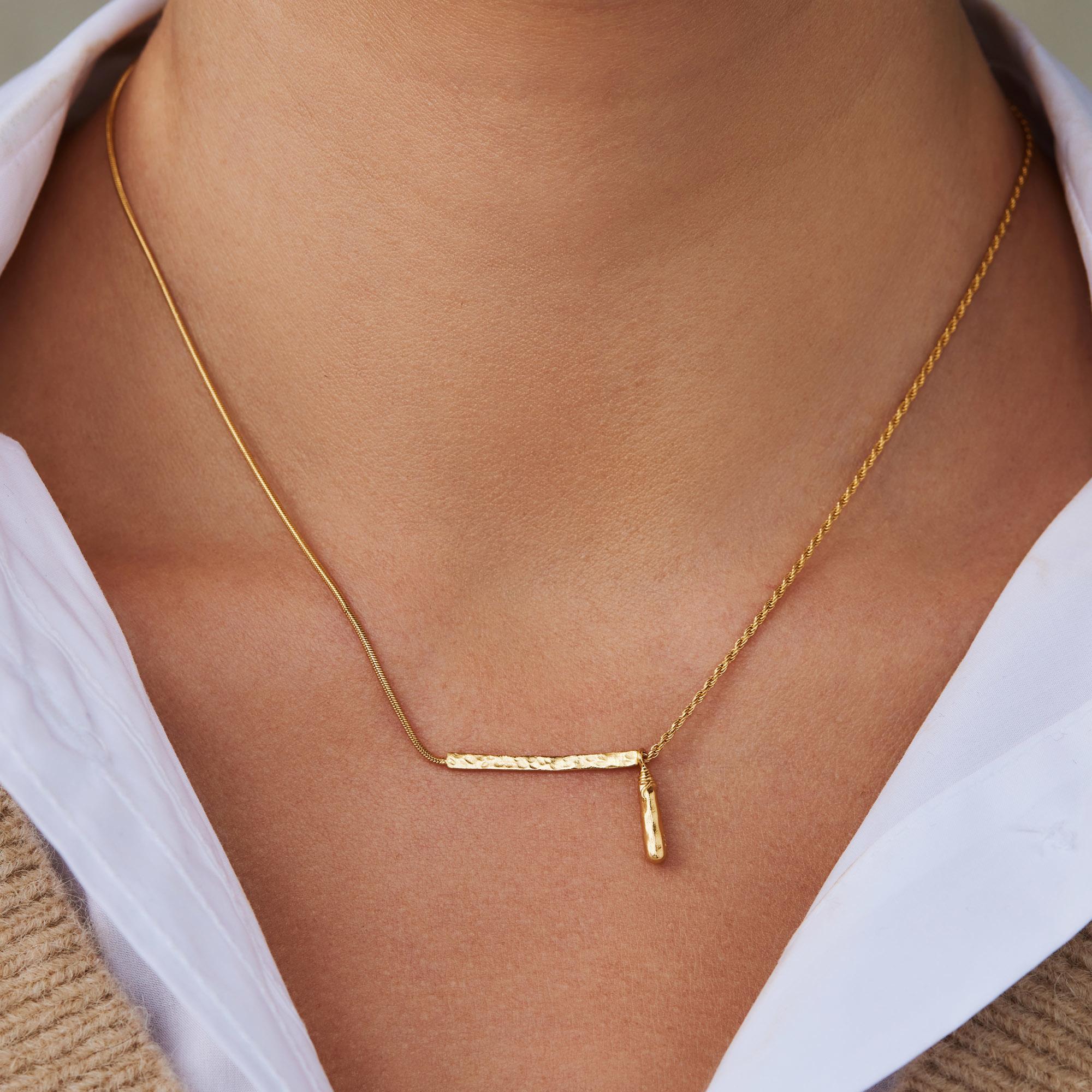 Violet Hamden Sisterhood Phoebe 925 sterling silver guldfärgad halsband