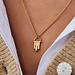 Violet Hamden Sisterhood Solid 925 sterling sølv guldfarvet halskæde