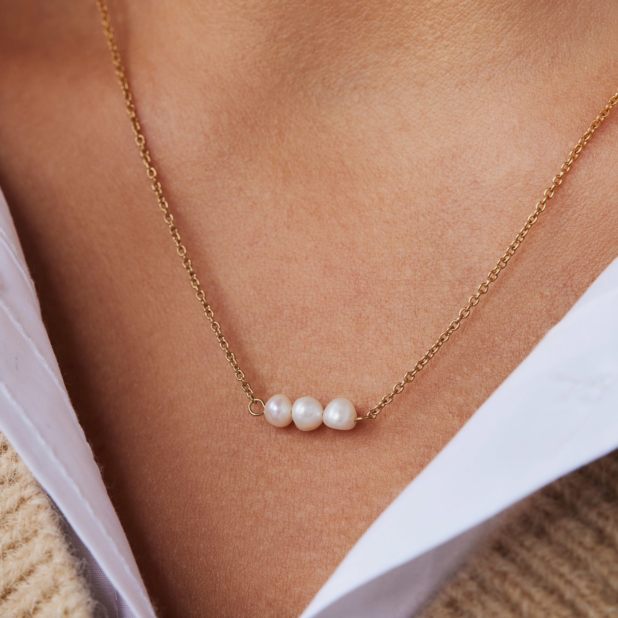 Violet Hamden Luminous Lake 925 sterling silver guldfärgad halsband