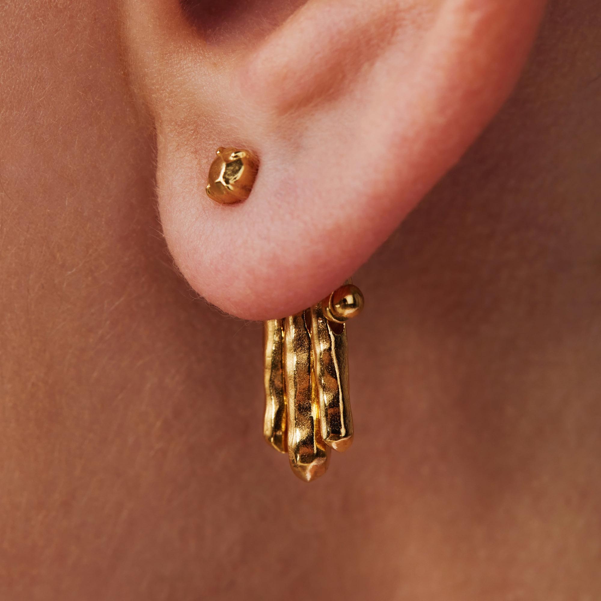 Violet Hamden Sisterhood Moonsister clous d'oreilles couleur or en argent sterling 925